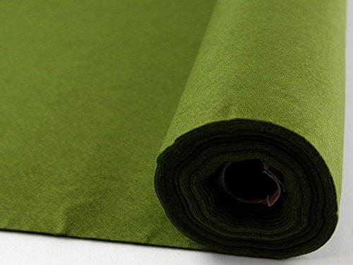 Feutrine acrylique adhésive Vert mousse Mini rouleau de 5 m - par 5 m
