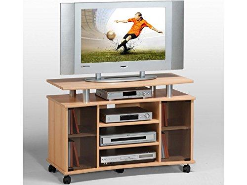 """TV-Wagen Fernsehtisch Rollwagen TV-Board Hifi Unterschrank Sideboard Holz """"Lago"""" (Buche)"""