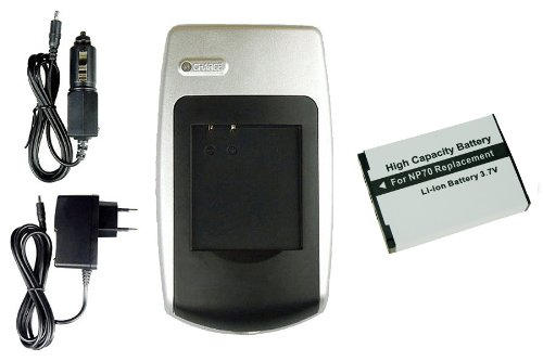 Price comparison product image Charger + Battery NP-70 for Casio Exilim EX-Z150 / EX-Z155 / EX-Z250