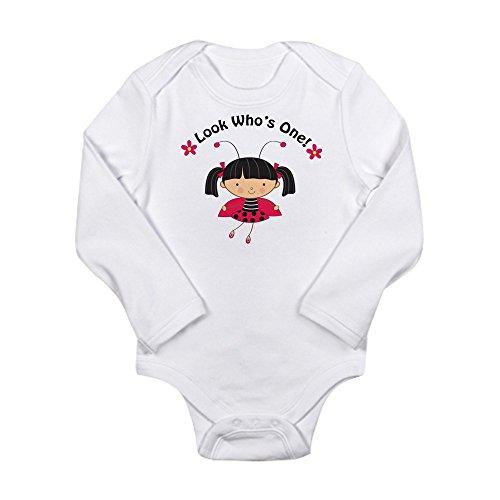 CafePress - Ladybug First Birthday - Cute Long Sleeve Infant Bodysuit Baby Romper