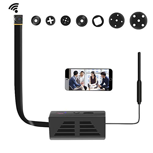 Amyway Mini WLAN Überwachungskamera,1080P HD DIY P2P Netzwerk Klein IP Nanny Compact Sicherheit Kamera Videokamera Internet für Home/Office-Sicherheit Unterstützung iOS/Android/PC MEHRWEG (Internet-kamera)