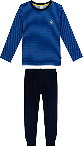 Sanetta Schlafanzug Frottee blau/Marine Größe 164 - Marine-blau-jungen-schlafanzug