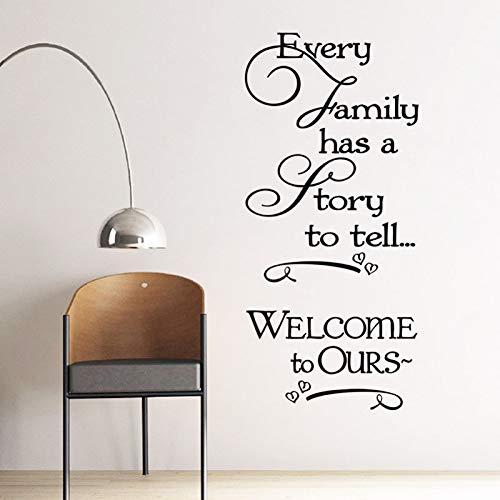 jiushizq Jede Familie hat wie zu Sagen, Home Decor Wandaufkleber Zitate und Sprüche Vinyl Wall Art Decals Abnehmbare 59cm X 87cm
