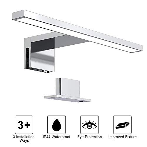 Dailyart Aplique Espejo DE Baño 5W 325lm Aplique Baño LED Sala de Baño IP44 Lámpara de pared para espejo de baño Armario con Espejo Lámpara 4000K, 300 * 100 * 40mm [Clase de eficiencia energética A++]