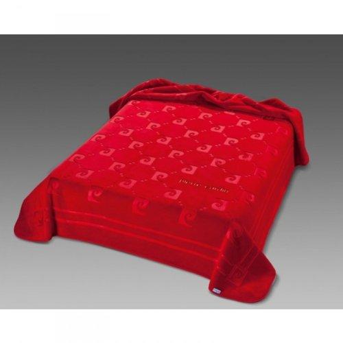 Pierre Cardin Designer Luxus Tagesdecke Samtweich 240 x 260 cm Schlafzimmer Decke Kuscheldecke Rot NA654