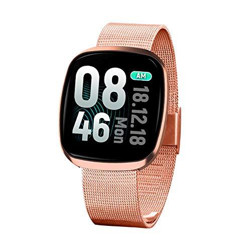 Dokfin wasserdichte Fitness-Tracker-Uhr, 1,3 Zoll Farbbildschirm Smart Armband mit Herzfrequenz Blutdruck-Sauerstoff-Schlafmonitor, GPS Aktivität-Tracker-Pedometer Kalorie für Android/ios -
