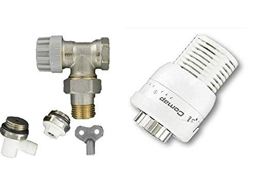 Kit  S1 M28 complet thermostatique équerre 1/2'' (15x21)et accessoires