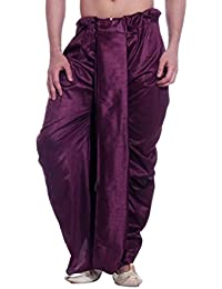 LARWA Solid Men's Readymade Dhoti Purple Special for Diwali