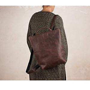 41vF4ZX0vPL. SS300  - Mochila cuero marrón, mochila segura marrón, mochila mujer ciudad, mochilas viajes, mochila mujer piel, mochilas…