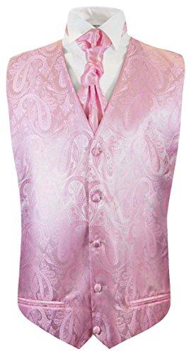 Paul Malone Hochzeitsmode Herren Hochzeitsweste Set 5tlg pink rosa Gr.50