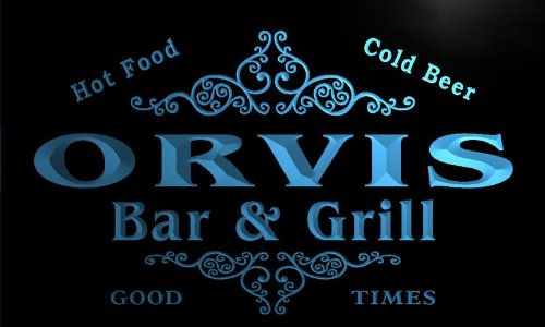 u33475-b-orvis-family-name-bar-grill-home-brew-beer-neon-sign-barlicht-neonlicht-lichtwerbung
