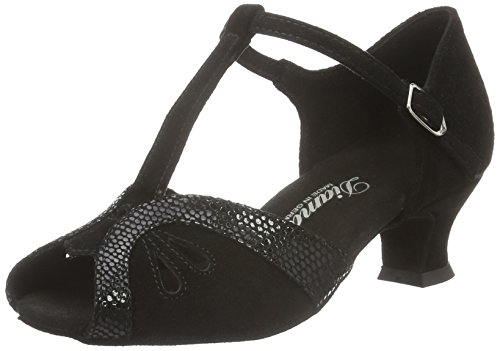 Diamant Damen Tanzschuhe 019-011-208, Chaussures de Danse de Salon Femme Noir