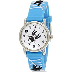 Pure Time Children's Watch-Child Silicone Watch With Spiders Design Light Blue White + Watch Box