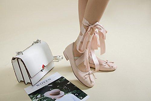 Zoress Fashion Femmes Lacets Satin Pour Chaussures Solides Nouvelles Chaussures Loyal Tgipgqdw-071750-7727786