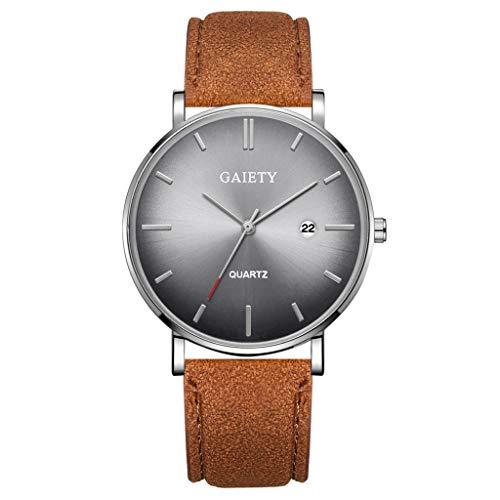 Mode Simple Calendrier Casual en Cuir d'affaires avec Bracelet Montre pour Hommes Montre à Quartz Intelligente Horloge Bracelet