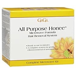 Gigi All Purpose Honee Microwave Formula Hair Removal System Waxing Kit