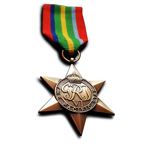 Pazifik Star Britishe Commonwealth Militär Medaille Kampagne ww2 seltene Replik -