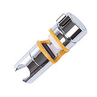 Verchromt Handbrause Halterung Aoleca 18-25mm Verstellbar Brausehalter Duschhalterung für Handbrause oder Duschkopf Für Badezimmer, 360° drehbar, ABS Grade Kunststoff