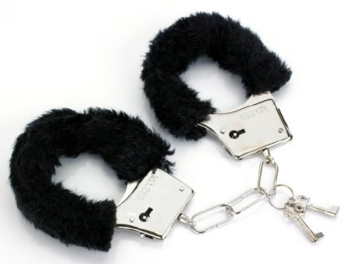 Furry Love Cuffs. Fury Handcuffs with safety release. Colour may vary red / black