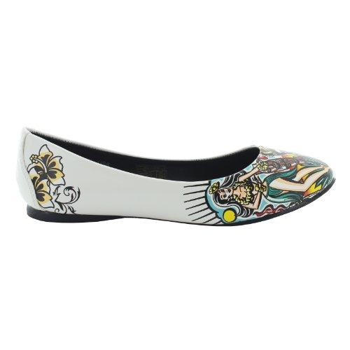 T.U.K. Flats HULA GIRL A8340L blanc-multicolorecolorouge blanc-multicolorecolorouge