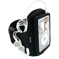 iGadgitz Brassard de sport en Néoprène avec Etui pour iPod Classic Noir