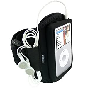 iGadgitz Water Resistant Neoprene Sports Gym Jogging Armband for Apple iPod Classic 80gb, 120gb & 160gb + iPod Video 30gb & 60gb