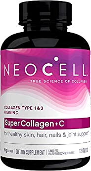 Neocell, Super Collagen C, Type 1 & 3, 6,000 Mg, 120 Tab