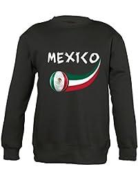 Supportershop 6 Sweatshirt Mexique 6 Mixte Enfant, Noir, FR : M (Taille Fabricant : 6 Ans)