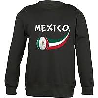 Supportershop–6–Sudadera México 6Mixta niño, Negro, FR: M (Talla Fabricante: 6años)