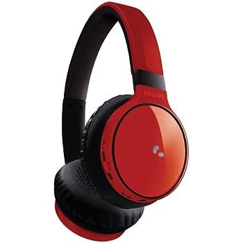 Philips SHB9100 Casque stéréo Bluetooth 3.0 avec Microfonction prise d'appel pour téléphone Rouge