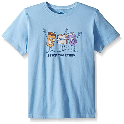 Life Is Good Jungen Crusher Tee Stick Together PB & J, Jungen, 53398, Carolina Blue, XL - Life Is Good Boys T-shirt