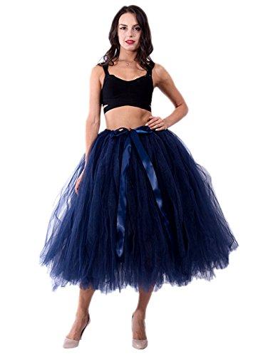 Honeystore Damen's Tüllrock Maxirock Lang Tüll Rock Tutu Hochzeit und Party Prinzessin Ballettrock One Size (H&m Kostüm Ballett)