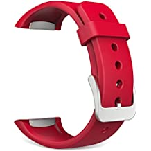 MoKo Soft Silicone Replacement Sport Correa for Samsung Galaxy Gear S2 Smart Watch - Rojo (Not Fit Gear S2 Classic SM-7320 version)