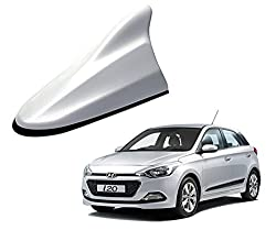 Auto Pearl - Premium Quality Shark Fin Replacement Signal Receiver Antenna - O.E. Sleek Silver Color For - Hyundai I20 Elite