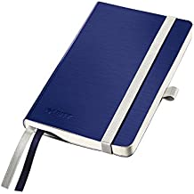 Leitz Cuaderno tamaño A6, 80 páginas, Con Cuadrícula, Con tapas flexibles, Style, Azul Titán, 44930069