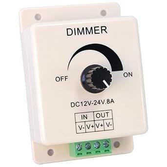 Generic lED avec télécommande et variateur d'intensité (rotatif, dC 8 a 12/24 v)