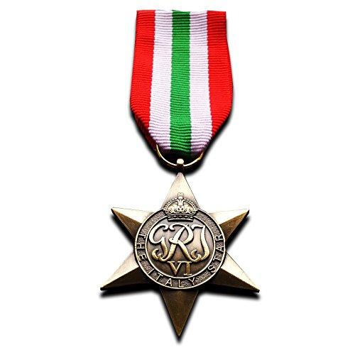 Italien star ww2 Militär Medaille des Britischen Commonwealth Land und Meer service Nachbildung Replik -