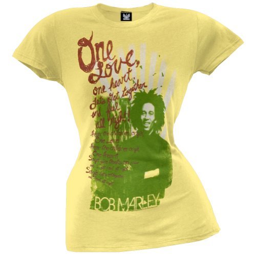 Bob Marley – Damen One Herz Junioren T-Shirt, Gelb, 34367-XL-og (Bob Herz Marley-one)