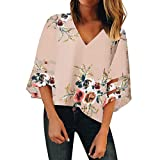LANWINY Lamngarmshirt Damen Langarm Hemd Sweatshirt Asymmetrisch Lässige T-Shirts Rundhals Ausschnitt Oberteil Tops Herbst
