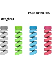 Bangbros Cable Protector Bobbin Winder Data Line Case Rope Protection Spring Twine For Phone USB Earphone Cover (Color assorted)(10 Pcs)