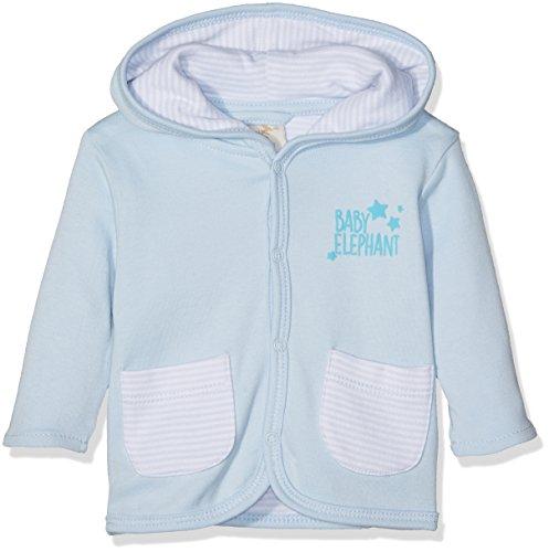 DIMO-TEX Baby-Jungen Strickjacke Kapuzenjacke Bio-Baumwolle Mehrfarbig (Blauweiß 21), 74