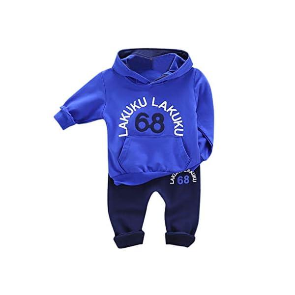Tefamore Ropa Niño Liquidación Sudaderas con Capucha Niño Manga Larga Infantil Recien Nacido Conjuntos Bebé Niño… 1