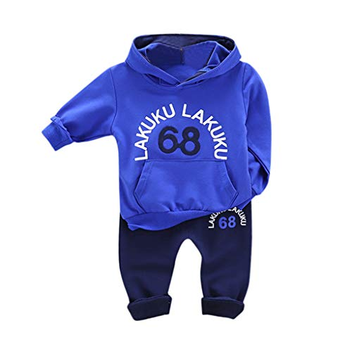 Toddler Kids Baby Boy Girl Hooded Letter Sweatshirt Long Pants Outfit Set Outfit with Hat Autunno Inverno Outw