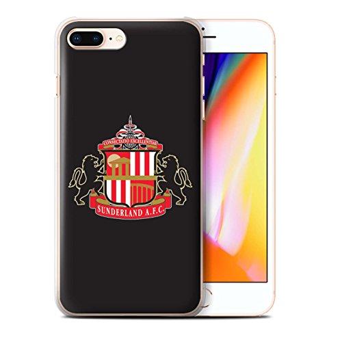 Offiziell Sunderland AFC Hülle / Case für Apple iPhone 8 Plus / Rot/Weiß Muster / SAFC Fußball Crest Kollektion Schwarz