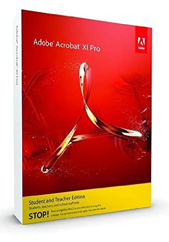 Adobe Acrobat 11 Pro Student and