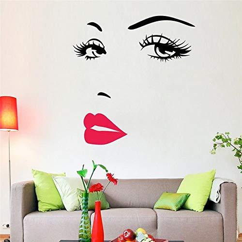 Wall sticker adesivo parete donna sexy labbra occhi muro decoro centro estetico