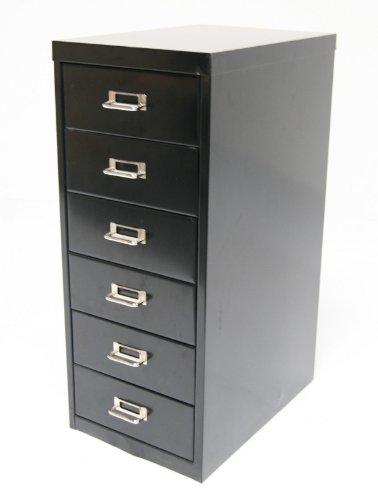 Schubladenschrank, 66x28x40cm, 6 Schubladen, schwarz, Marke: Szagato (Büroschrank, Werkzeugschrank,...