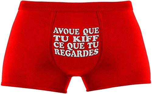 Les boxers pour hommes | Avoue Que Tu Kiff Ce Que Tu Regardes | Cadeau anniversaire unique et drôle. Article de nouveauté. Idée cadeau