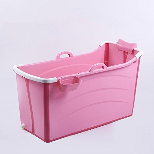 Vasca da bagno domestica di plastica piegante adulta con il grande ...