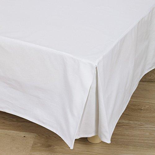 Tradition des vosges Cache-sommier Uni bachette 160x200 BLANC